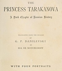 Cover of The Princess Tarakanova: A Dark Chapter of Russian History