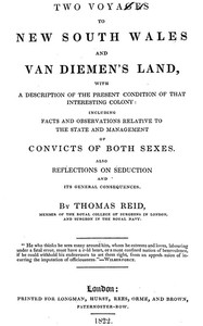 Cover of Two Voyages to New South Wales and Van Diemen's Land