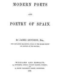 Cover of Modern Poets and Poetry of Spain