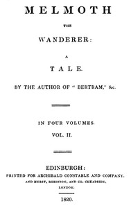 Cover of Melmoth the Wanderer, Vol. 2