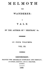 Melmoth the Wanderer, Vol. 3