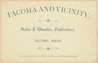 Cover of Tacoma and Vicinity