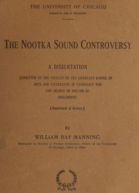 The Nootka Sound Controversy: A dissertation