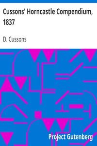 Cover of Cussons' Horncastle Compendium, 1837