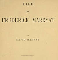 Cover of Life of Frederick Marryat