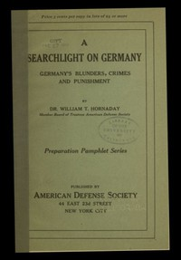 Cover of A searchlight on Germany: Germany's Blunders, Crimes and Punishment