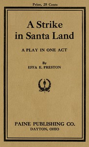 Cover of A Strike in Santa Land: A Play in One Act