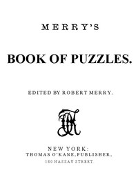 Cover of Merry's Book of Puzzles