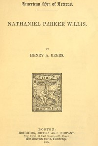 Cover of Nathaniel Parker Willis