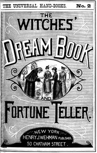 Cover of The Witches' Dream Book; and Fortune Teller Embracing full and correct rules of divination concerning dreams and visions, foretelling of future events, their scientific application to physiognomy, palmistry, moles, cards, &c.; together with the application and observance of talismen charms, spells and incantations.