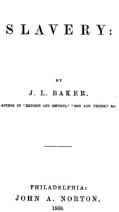 Cover of Slavery