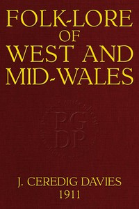 Cover of Folk-Lore of West and Mid-Wales