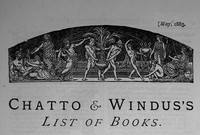 Cover of Chatto & Windus's List of Books, May 1883