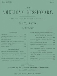 The American Missionary — Volume 33, No. 05, May, 1879