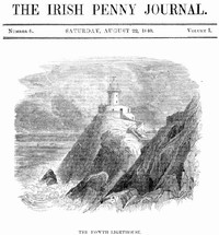 Cover of The Irish Penny Journal, Vol. 1 No. 08, August 22, 1840