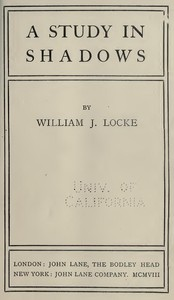 Cover of A Study In Shadows