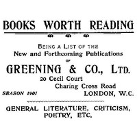 Cover of Books Worth Reading Being a List of the New and Forthcoming Publications of Greening & Co., Ltd, season 1901