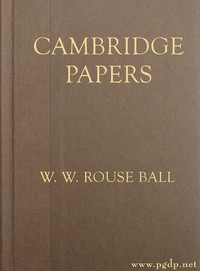 Cover of Cambridge Papers