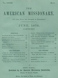 Cover of The American Missionary — Volume 33, No. 06, June, 1879