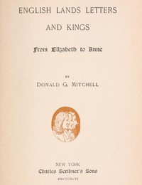 Cover of English Lands, Letters and Kings, vol. 2: From Elizabeth to Anne