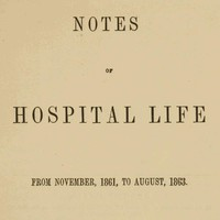 Cover of Notes of hospital life from November, 1861, to August, 1863