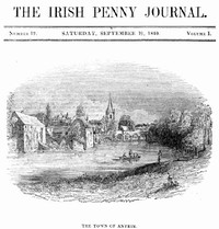 Cover of The Irish Penny Journal, Vol. 1 No. 12, September 19, 1840