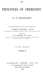 Cover of The Principles of Chemistry, Volume II