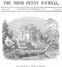 Cover of The Irish Penny Journal, Vol. 1 No. 13, September 26, 1840