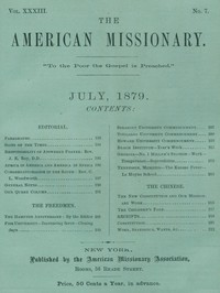 The American Missionary — Volume 33, No. 07, July, 1879