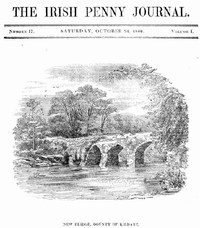 Cover of The Irish Penny Journal, Vol. 1 No. 17, October 24, 1840