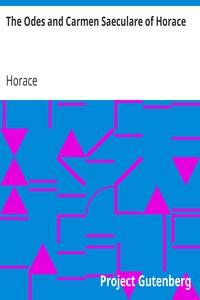 Cover of The Odes and Carmen Saeculare of Horace