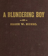 Cover of A Blundering Boy: A Humorous Story