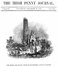 Cover of The Irish Penny Journal, Vol. 1 No. 22, November 28, 1840