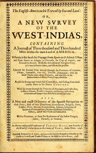 Cover of The English-American, His Travail by Sea and Land: or, A New Survey of the West-India's