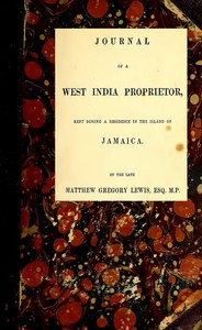 Cover of Journal of a West India ProprietorKept During a Residence in the Island of Jamaica