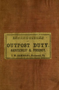 Cover of Instructions for Officers and Non-Commissioned Officers of Cavalry, on Outpost Duty
