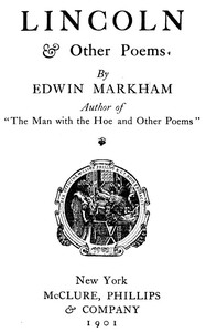 Cover of Lincoln & other poems