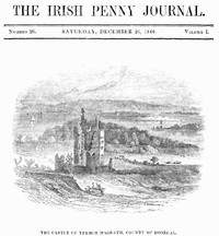 Cover of The Irish Penny Journal, Vol. 1 No. 26, December 26, 1840