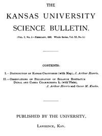 Cover of The Kansas University Science Bulletin (Vol. I, No. 1)