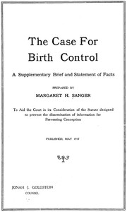 The Case for Birth Control: A Supplementary Brief and Statement of Facts