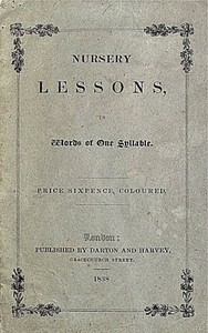 Cover of Nursery Lessons, in Words of One Syllable