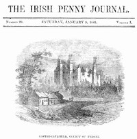 Cover of The Irish Penny Journal, Vol. 1 No. 28, January 9, 1841