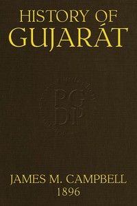Cover of History of GujarátGazetteer of the Bombay Presidency, Volume I, Part I.