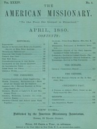 Cover of The American Missionary — Volume 34, No. 04, April, 1880