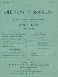Cover of The American Missionary — Volume 34, No. 06, June, 1880
