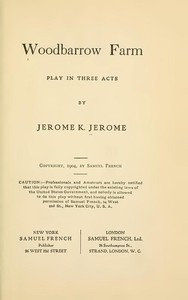 Cover of Woodbarrow Farm: Play in Three Acts