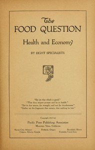Cover of The Food Question: Health and Economy