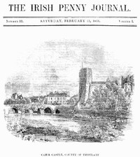 Cover of The Irish Penny Journal, Vol. 1 No. 33, February 13, 1841