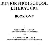 Cover of Junior High School Literature, Book 1