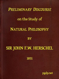 Cover of Preliminary Discourse on the Study of Natural Philosophy